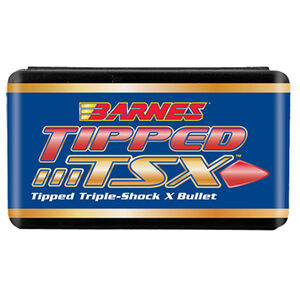 """Barnes Tipped Triple Shock X Lead Free .30 Caliber .308"""" Diameter 168 Grain Solid Copper Spitzer Polymer Tip Boat Tail Projectile 50 Per Box 30370"""