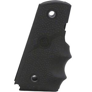 Hogue Grip 1911 Full Size Finger Grooves Cobblestone Rubber Black 45000