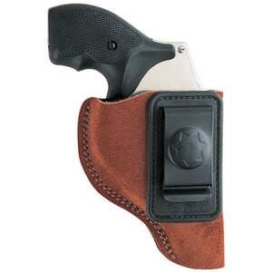 """Bianchi Waistband Holster Small-Frame Revolvers 2"""" Barrels Size 6 Left Hand Suede Rust 10381"""