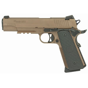 "SIG Sauer 1911 Emperor Scorpion .45 ACP Semi Auto Pistol 5"" Barrel 8 Rounds SIGLite Sights/SIG Rail Custom G10 Grips Stainless Steel Slide/Frame PVD FDE Finish"