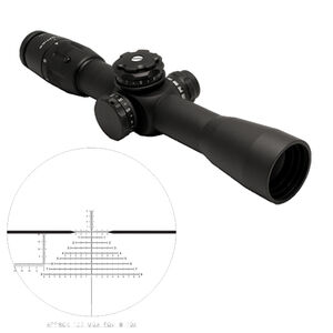 US Optics B-Series B-10 1.8-10x42 Riflescope Illuminated Digital Red Horus Vision H425 Reticle 34mm Tube 1/10 MIL Adjustments Front Focal Plane Matte Black