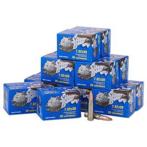 Silver Bear 7.62x39 125gr SP Steel Cased 500 Rounds
