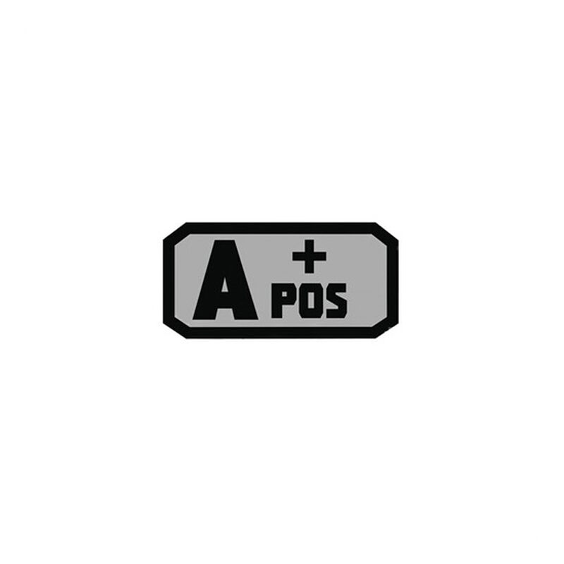 Voodoo Tactical Blood Type Patch A + POS TPR Rubber Gray