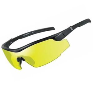 Wiley X Eyewear RE 102 Adult Safety/Shooting Glasses Yellow Lens/Black Frame