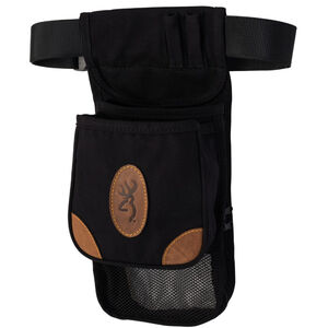 Browning Lona Canvas/Leather Large Deluxe Shell Pouch Black/Brown