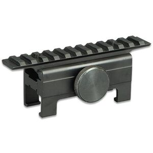 "HK91/93/94 Saddle No Gunsmithing Scope Mount Sun Optics USA 5"" Length Quick Detach Solid Rezero Black Aluminum"