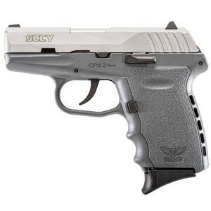 """SCCY CPX-2 9mm 3.1"""" Barrel 10 Rounds Grey/Stainless Steel"""