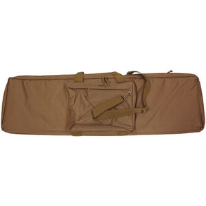 "Bob Allen Rectangular Tactical Rifle Case 36"" with External Storage Pocket Padded Synthetic Fabric Tan"