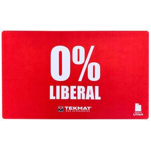"TekMat Weapons Platform Design 0% Liberal Door Mat 24"" x 42"" x 1/8"" Red"