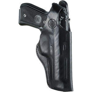 Beretta Mod.04 for Brigadier OWB Belt Holster with Thumb Break Right Hand Leather Black
