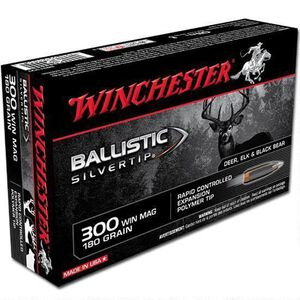 Winchester Ballistic Silvertip .300 Winchester Magnum Ammunition 180 Grain Ballistic Silvertip 2950fps