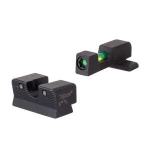 Trijicon DI Night Sight Set Springfield XD-S Dual Illumination Green Tritium and Fiber Optic Black