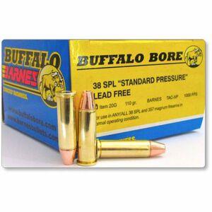 Buffalo Bore .38 Special Ammunition 20 Rounds Barnes TAC-XP 110 Grains 20G/20