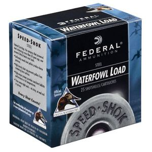 "Federal Speed-Shok 12 Ga 3.5"" T Steel 1.5oz 250 Rounds"