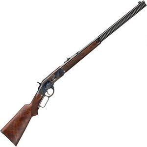 "Winchester 1873 Deluxe Sporter Lever Action Rifle .45 LC 14 Rounds 24"" Barrel Walnut Stock Color Case/Blued Finish"