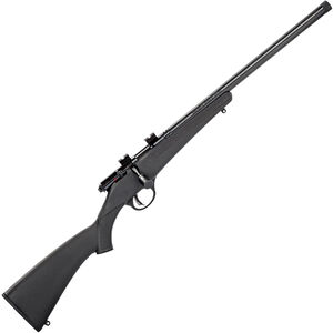 "Savage Rascal FVSR Synthetic Single Shot Bolt Action Rimfire Rifle .22 LR 16.125"" Heavy Threaded Barrel 1 Round Black Synthetic Stock Blued Finish"