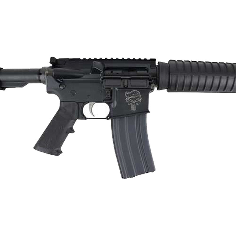 "Anderson Manufacturing Trump Punisher AM15 Optic Ready M4 AR-15 5.56 NATO Semi Auto Rifle 16"" Barrel with Optimized .223 Wylde Chambering 30 Rounds A2 Handguard Collapsible Stock Black"