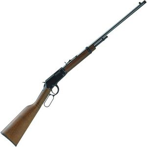"Henry Repeating Arms Frontier Model Threaded Barrel Lever Action Rifle Rimfire .22 WMR 24"" Barrel 8 Rounds Walnut Stock Blued Finish"