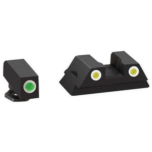 AmeriGlo Classic GLOCK 43 Tritium Night Sights Green/Yellow