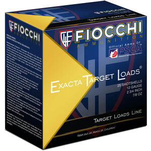 "Fiocchi 12 Gauge Ammunition 25 Rounds Low Recoil 2.75"" #8 Lead Shot 0.875 oz. 1278OZ8"