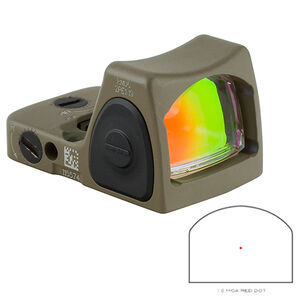 Trijicon RMR Type 2 Adjustable LED Sight 3.25 MOA Red Dot No Mount FDE