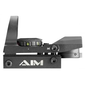 AIM Sports Red/Green Dot Sight 4 Reticle Patterns