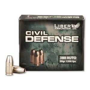Liberty Civil Defense .380 ACP 50gr Copper HP 20 Rounds
