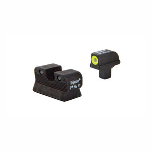 Trijicon 1911 Colt Cut HD Night Sight Set Yellow Front Outline CA101Y