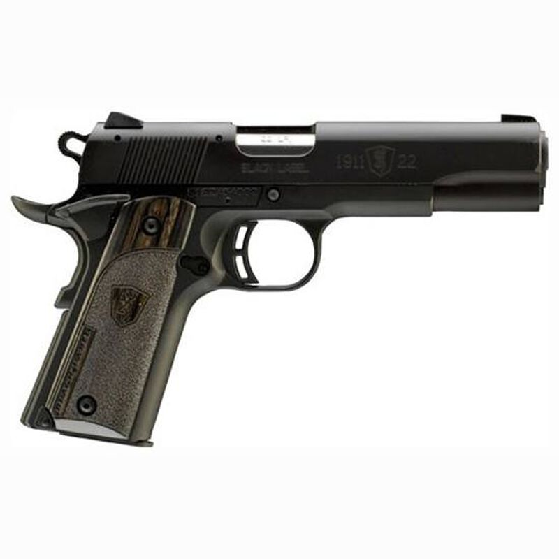 "Browning 1911-22 A1 Black Label Semi Auto Rimfire Pistol .22 LR 4.25"" Barrel 10 Rounds Laminate Grips Black"