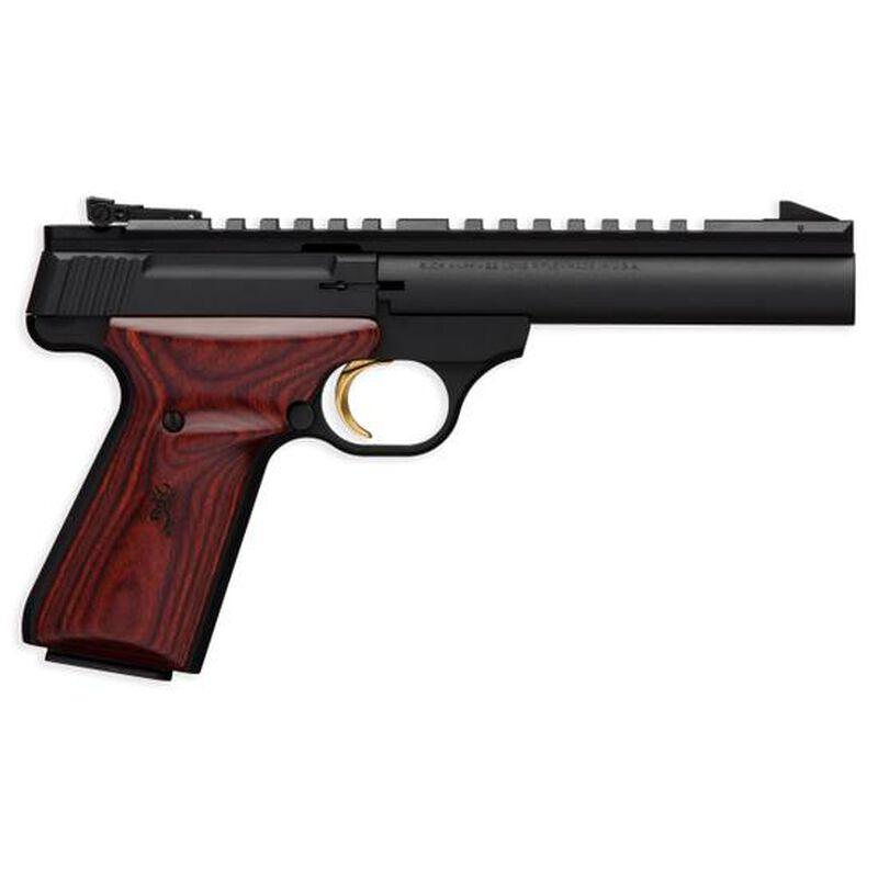 "Browning Buck Mark Field Target Semi Auto Pistol .22 LR 5.5"" Barrel 10 Rounds Adjustable Sights Laminate Cocobolo Grips Matte Black 051528490"