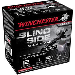 """Winchester Blind Side 12 Gauge Ammunition 3"""" #5 Steel Shot 1-3/8 Oz 1400 fps"""