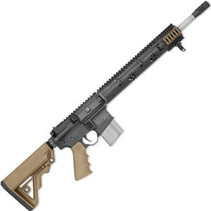 "Rock River LAR-15 Fred Eichler Series Predator 5.56 NATO AR15 Semi Auto Rifle 16"" Barrel .223 Wylde Chamber 20 Rounds Free Float Handguard Collapsible Stock Tan/Black"
