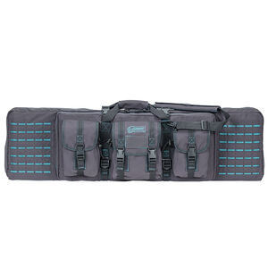 """Voodoo Tactical 42"""" Padded Weapons Case Nylon Gray/Teal"""