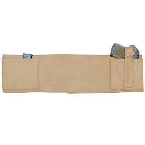 """Personal Security Products Concealed Carry Belly Band Ambidextrous 28"""" to 34"""" Waist Tan"""