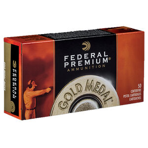 Federal Gold Medal Match .45 Auto Ammunition 50 Rounds FMJ SWC 185 Grains GM45B
