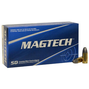 Magtech 9mm Luger Ammunition 50 Rounds LRN 124 Grains 9E