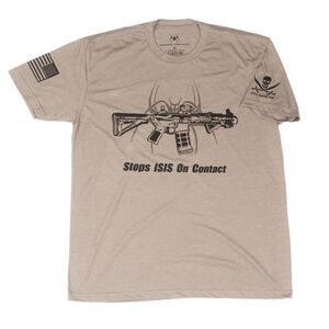 Spike's Tactical Stops ISIS On Contact Men's Short Sleeve T-Shirt Med   Warm Grey