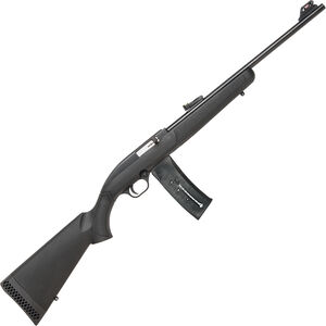 "Mossberg 702 Plinkster Semi Auto Rimfire Rifle .22 LR 18"" Barrel 25 Rounds FO Sights Synthetic Stock Black"