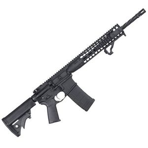 "LWRC AR-15 Semi Auto Rifle 5.56 NATO 16.1"" Spiral Fluted Barrel 30 Rounds Free Float Rail System Collapsible Stock Black ICDIR5B18"