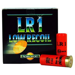 "NobelSport Target Low Recoil 12 Gauge 2-3/4"" #8 Lead 1 Ounce 25 Round Box"