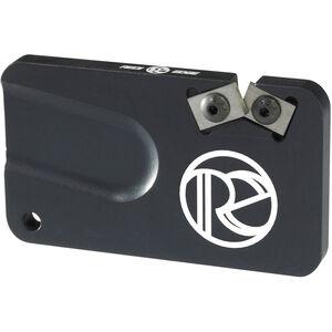 Redi-Edge Pocket Knife Sharpener Right Handed Duromite Blades Black Anodized Aluminum Body
