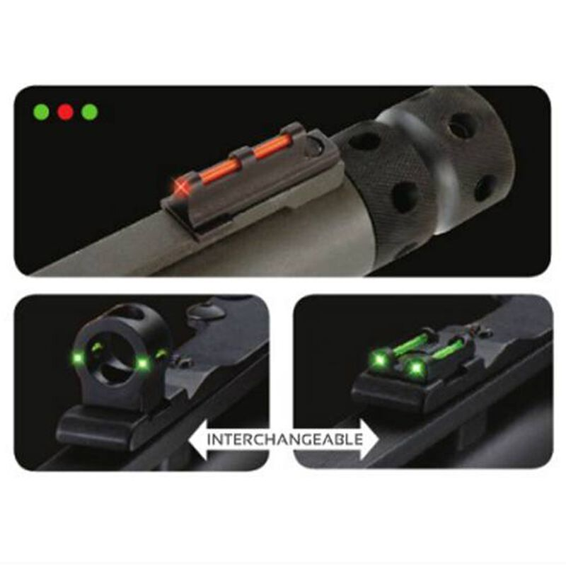 TRUGLO Tru-Bead Turkey Universal Shotgun Sight Rear Ghost Ring and Notched Rear Sight Dual Color Threaded Front Sight TG950XD