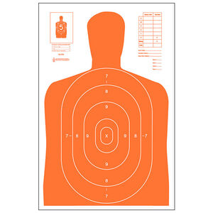 "Action Target B-27E Economy Target 23"" x 35"" Paper Orange 100 Pack"