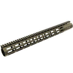 "Leapers UTG PRO AR-15 M-LOK Super Slim Free Float Hand Guard 17"" Aluminum Cerakote Flat Dark Earth MTU037SSMD"
