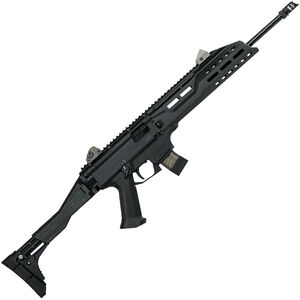"CZ Scorpion EVO 3 S1 Carbine Semi Auto Rifle 9mm Luger 16.2"" Barrel 10 Rounds Collapsible/Folding Stock Polymer Frame Matte Black Finish"
