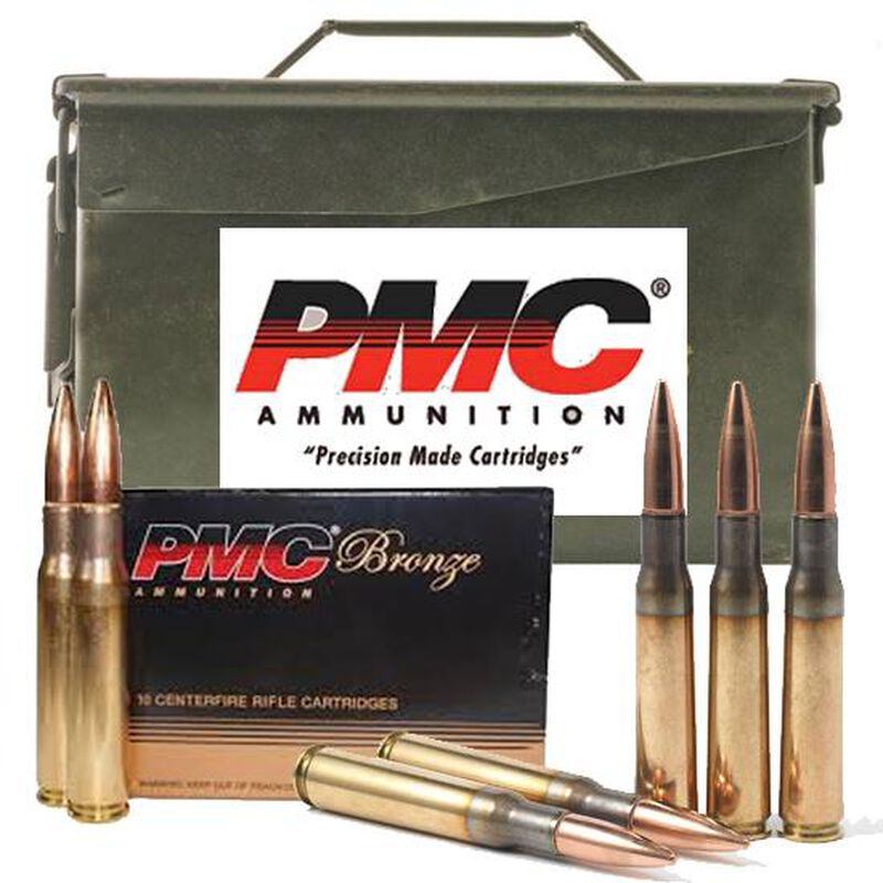 PMC .50 BMG Ammunition 100 Rounds 660 Grain Full Metal Jacket Boat Tail Linked/Metal Ammo Can