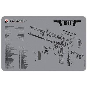 "TekMat 1911 Pistol Armorer's Bench Mat 11""x17"" Fabric/Neoprene Gray"