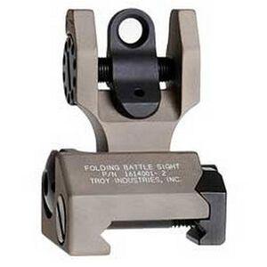 Troy Industries AR-15 Rear Folding Battle Sight Dark Earth Finish SSIG-FBS-R0FT-00