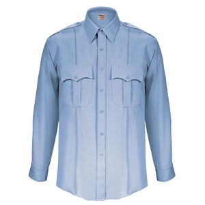 "Elbeco Textrop2 Men's Long Sleeve Shirt Neck 17.5 Sleeve 35"" 100% Polyester Tropical Weave Blue"