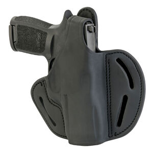 1791 Gunleather BHX-5S Dual Position OWB Thumb Break Belt Holster Railed Compacts Semi Auto Models Right Hand Draw Leather Black